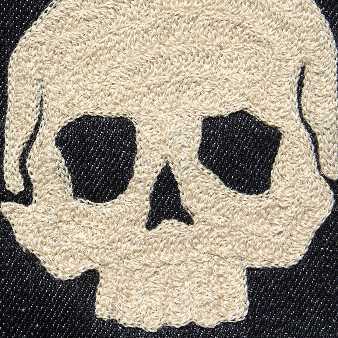 Small Direct Stitch Embroidery - Skull