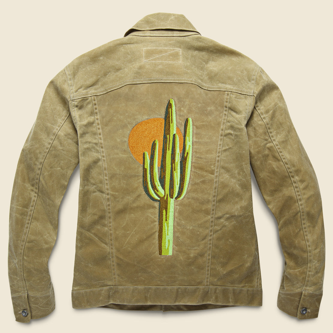 Fort Lonesome Rogue Territory Waxed Ridgeline Supply Jacket - Sunset Saguaro