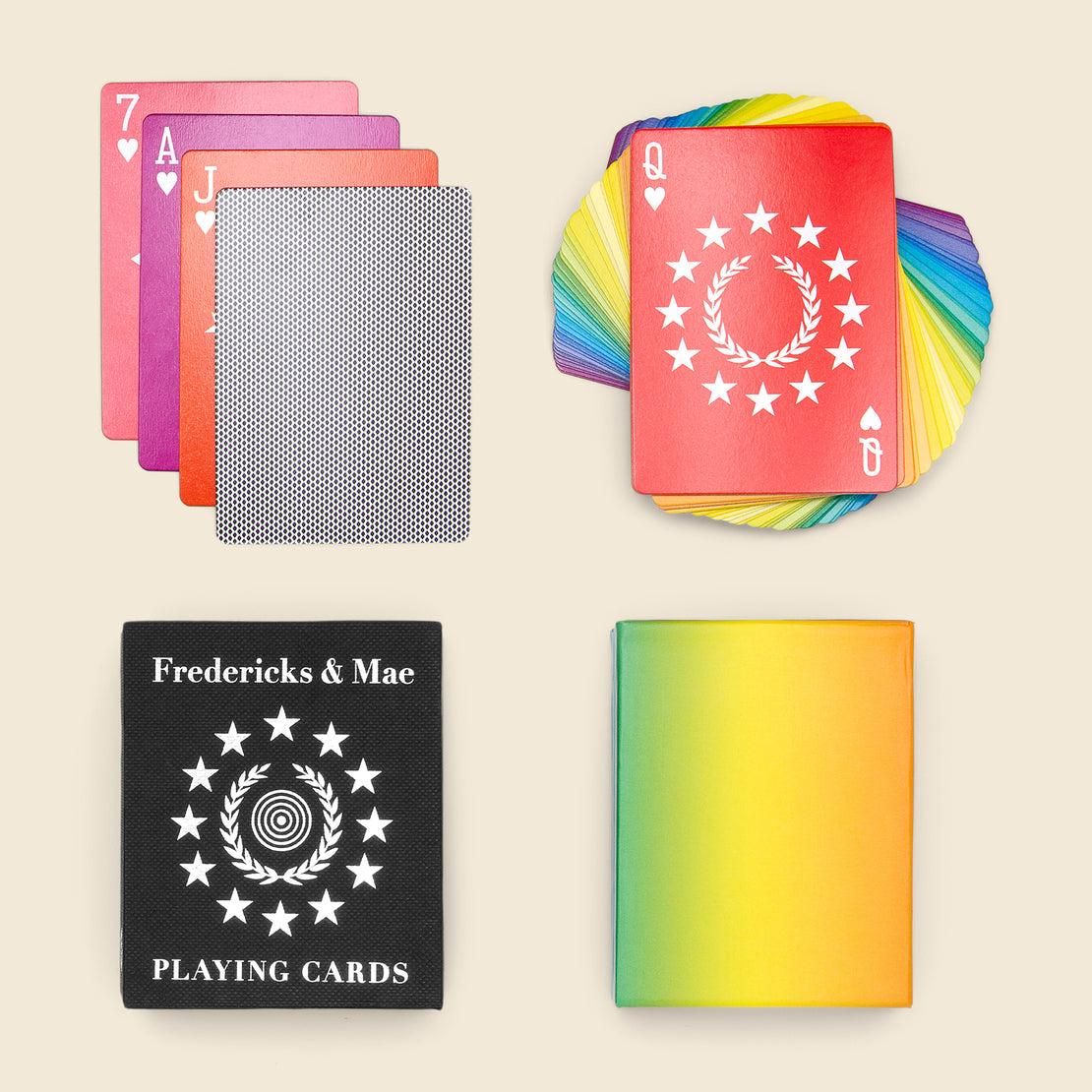 Home Playing Card Set - Rainbow