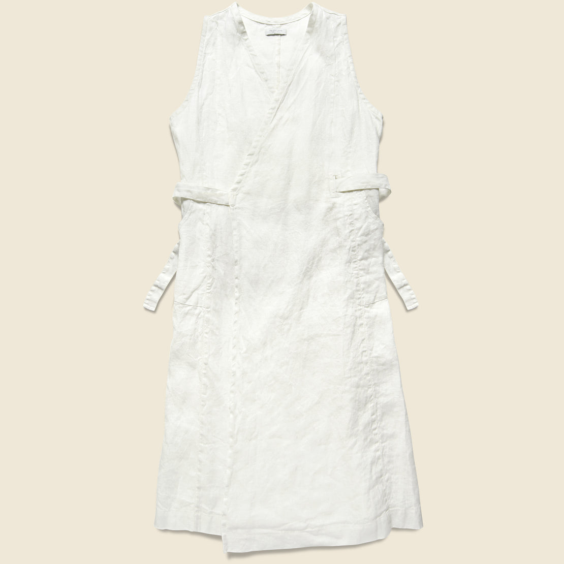 Fog Linen Linen Salon Dress - White