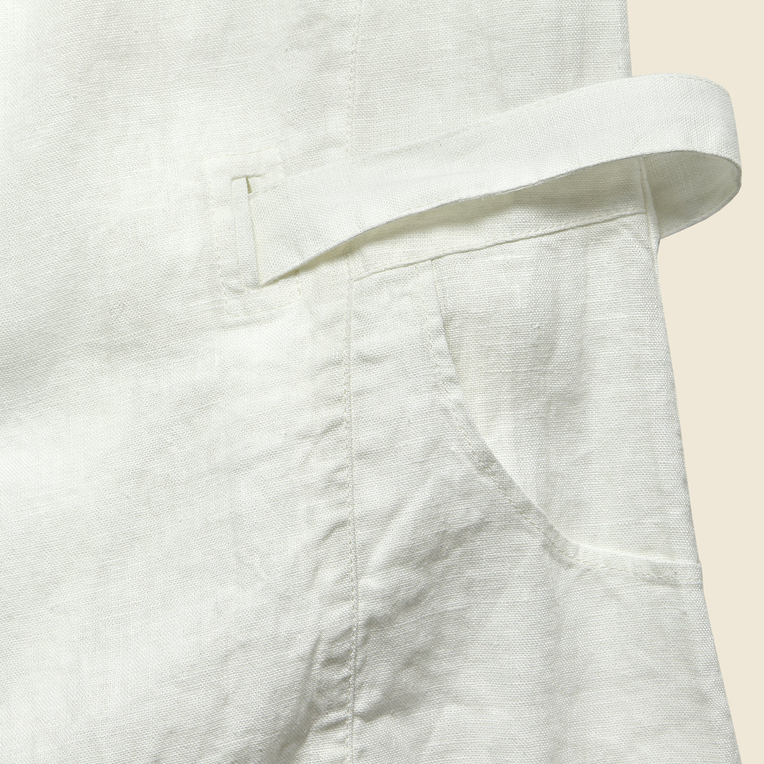 Linen Salon Dress - White