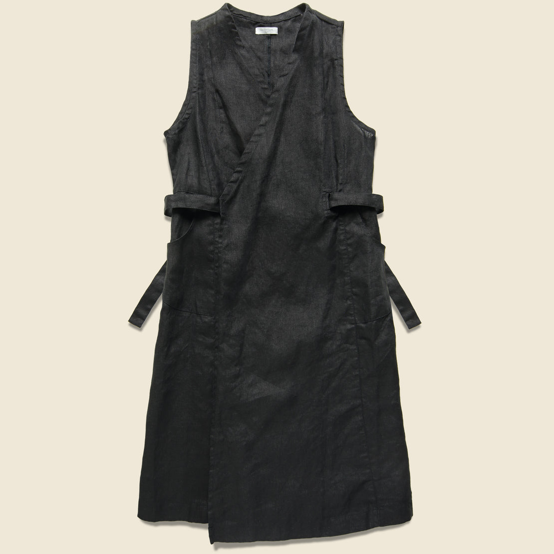 Fog Linen Linen Salon Dress - Black