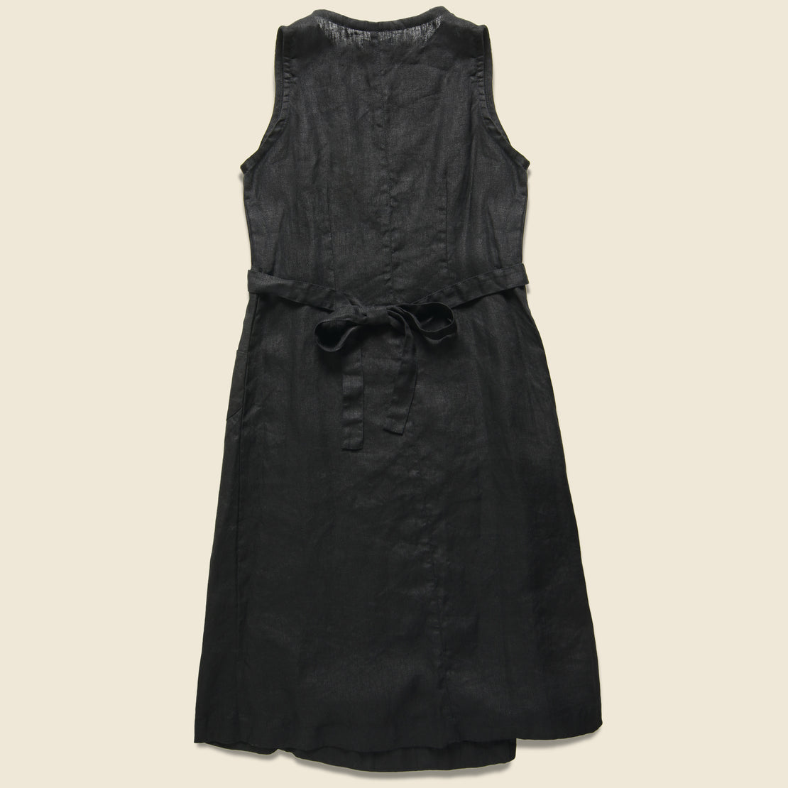 Linen Salon Dress - Black
