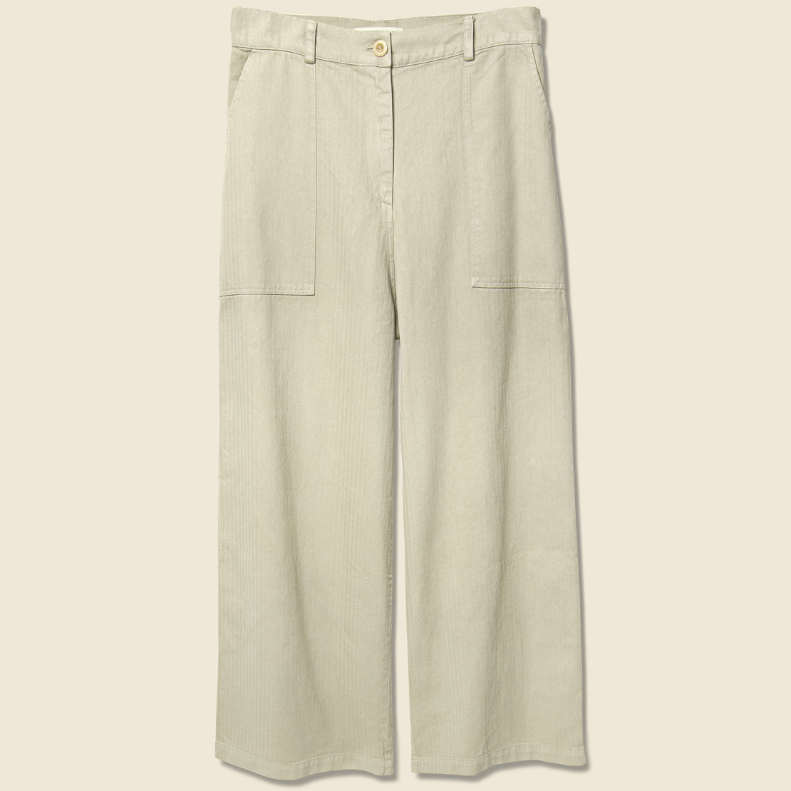 First Rite Cargo Trouser - Khaki Herringbone