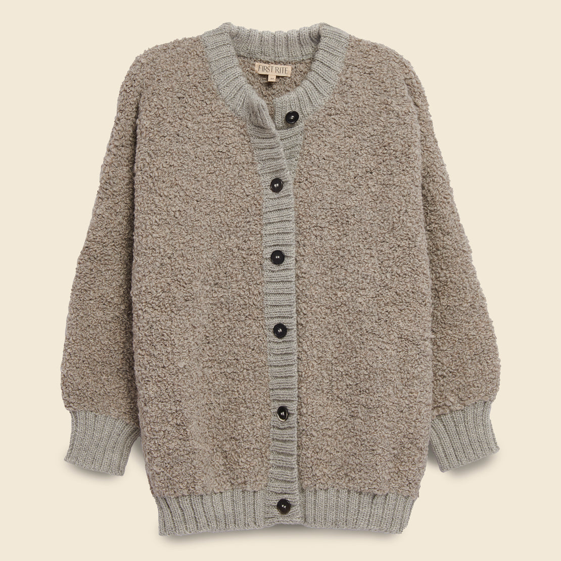 First Rite Bulky Button Cardigan - Ash