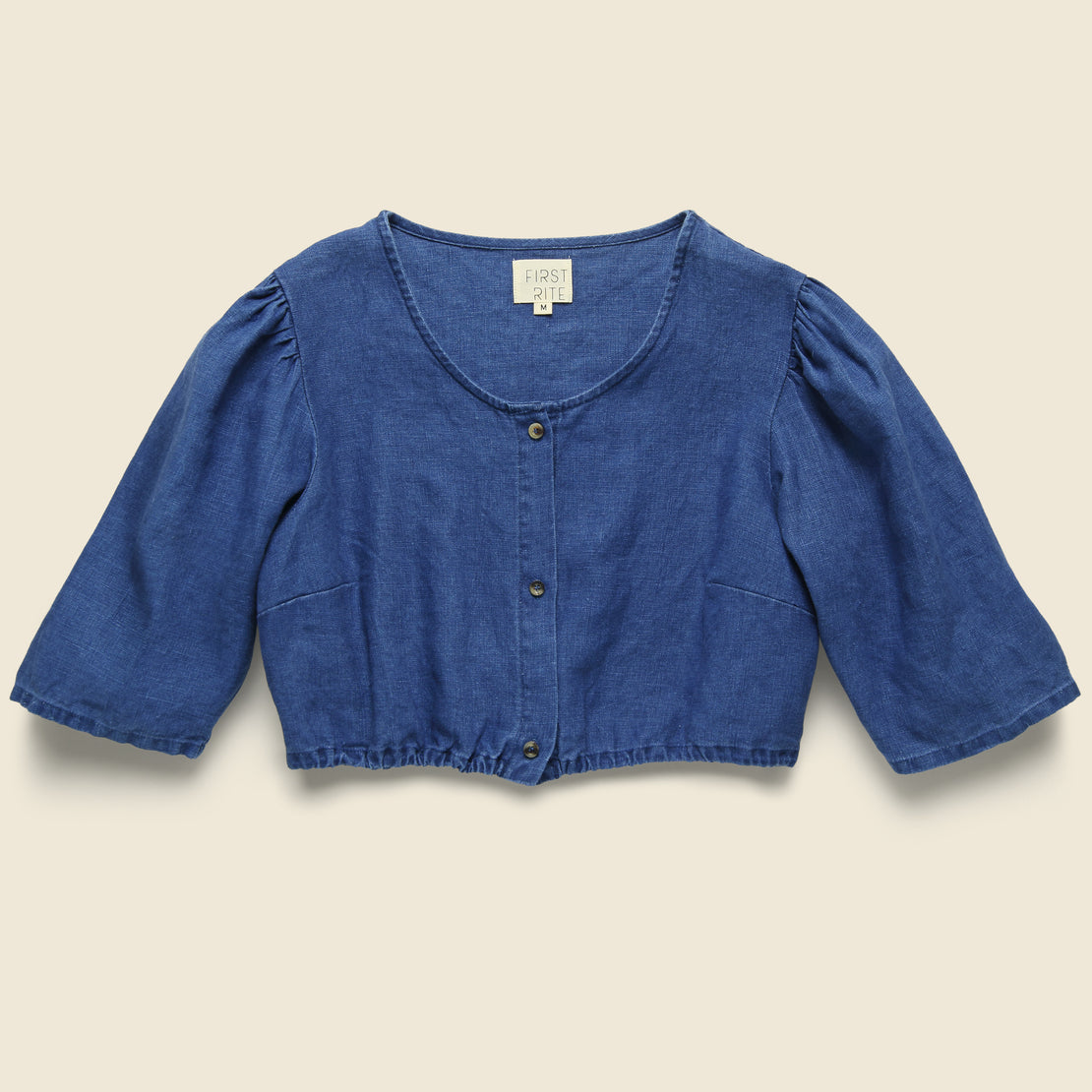 First Rite Button Blouse - Indigo
