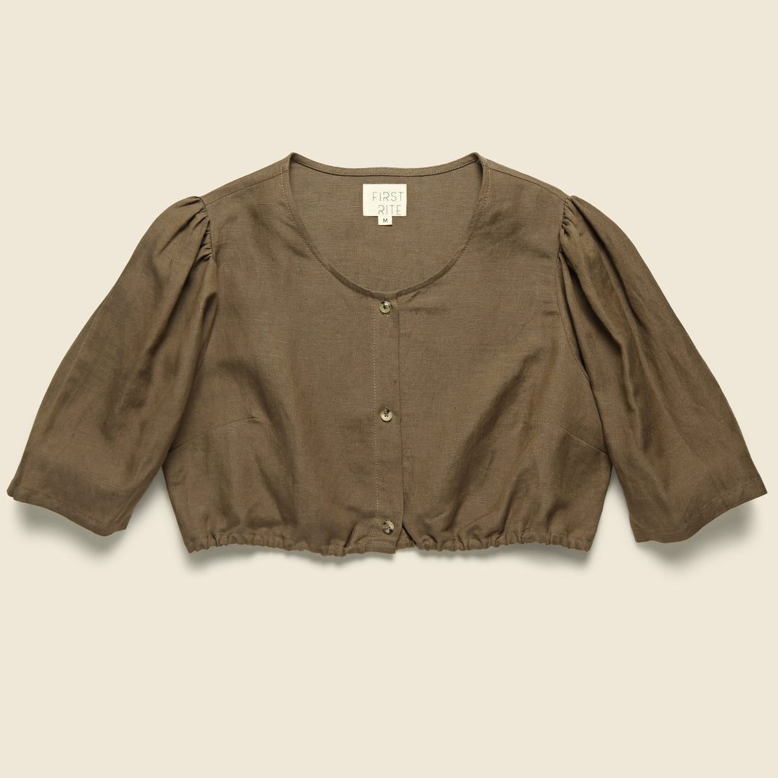 First Rite Button Blouse - Cocoa