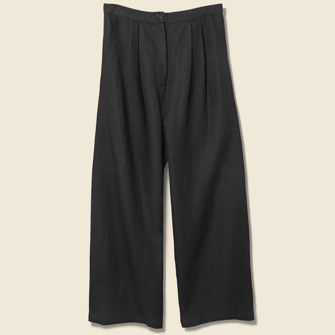 First Rite Pleated Trouser - Black