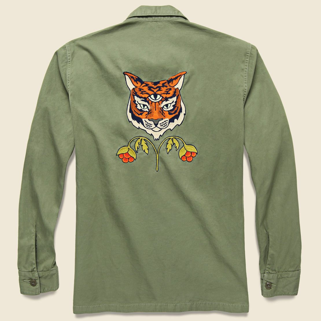 Fort Lonesome Twill Fatigue Overshirt - Tiger