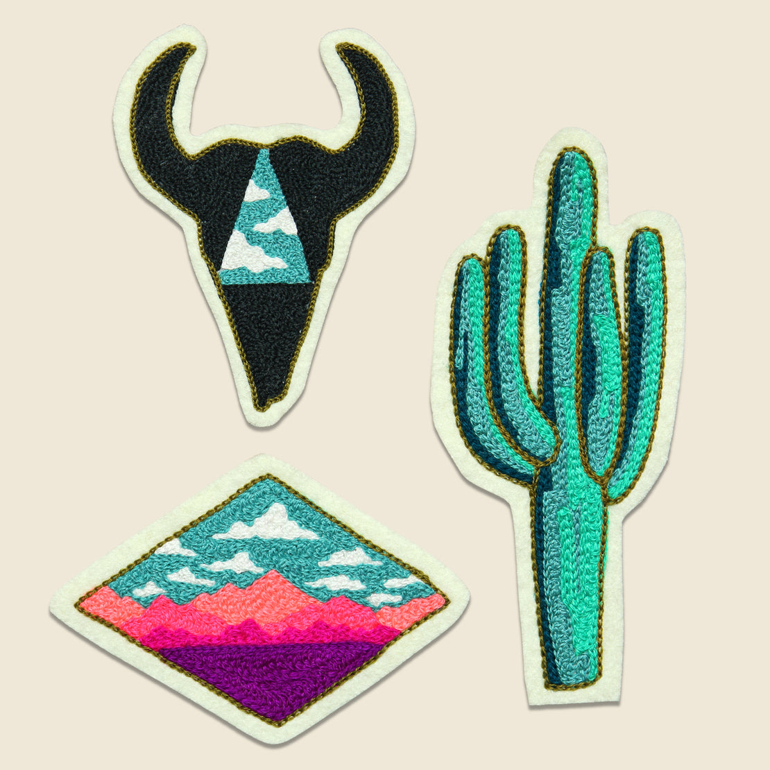 Fort Lonesome Patch Set - Desert Trio