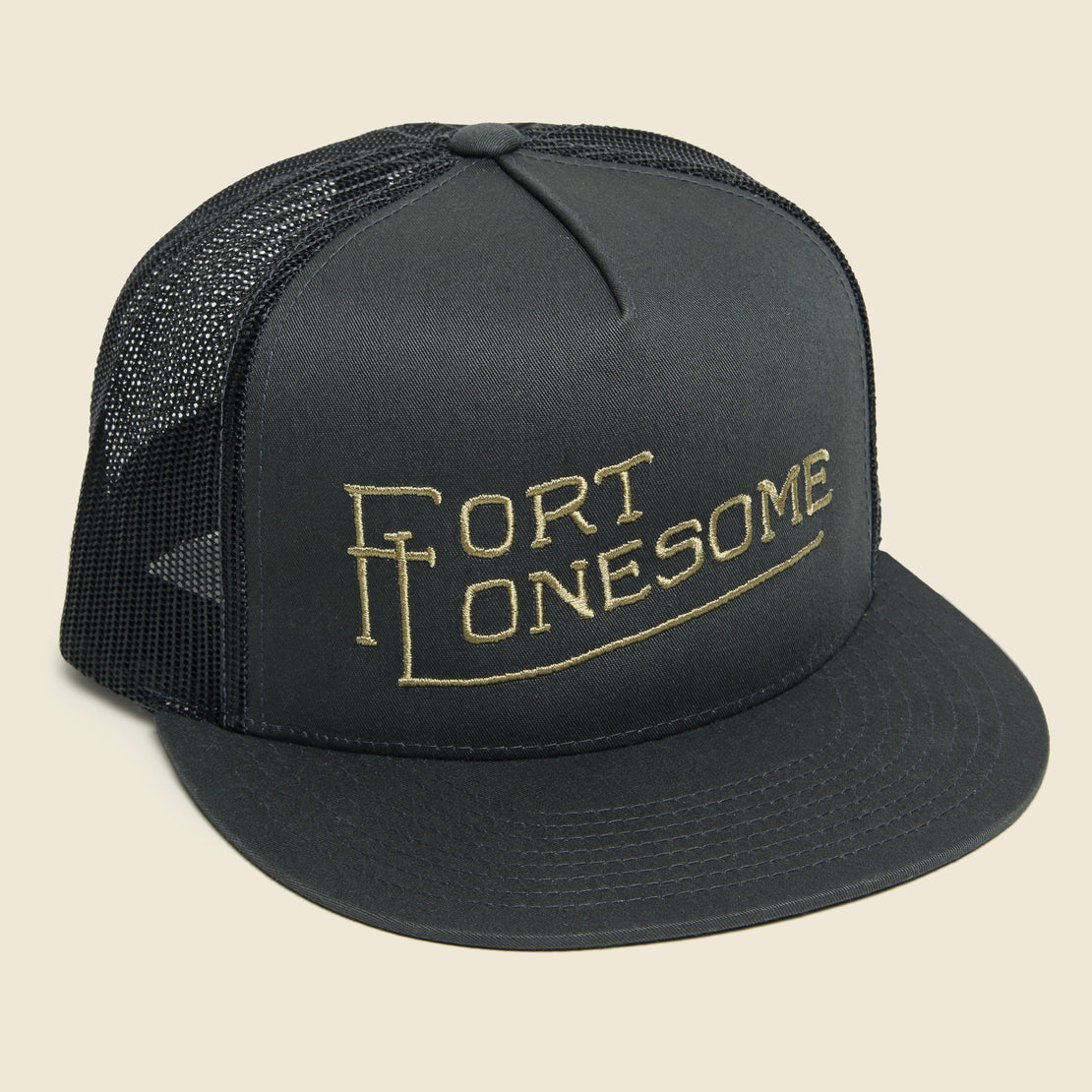 Fort Lonesome Embroidered Trucker Hat - Charcoal