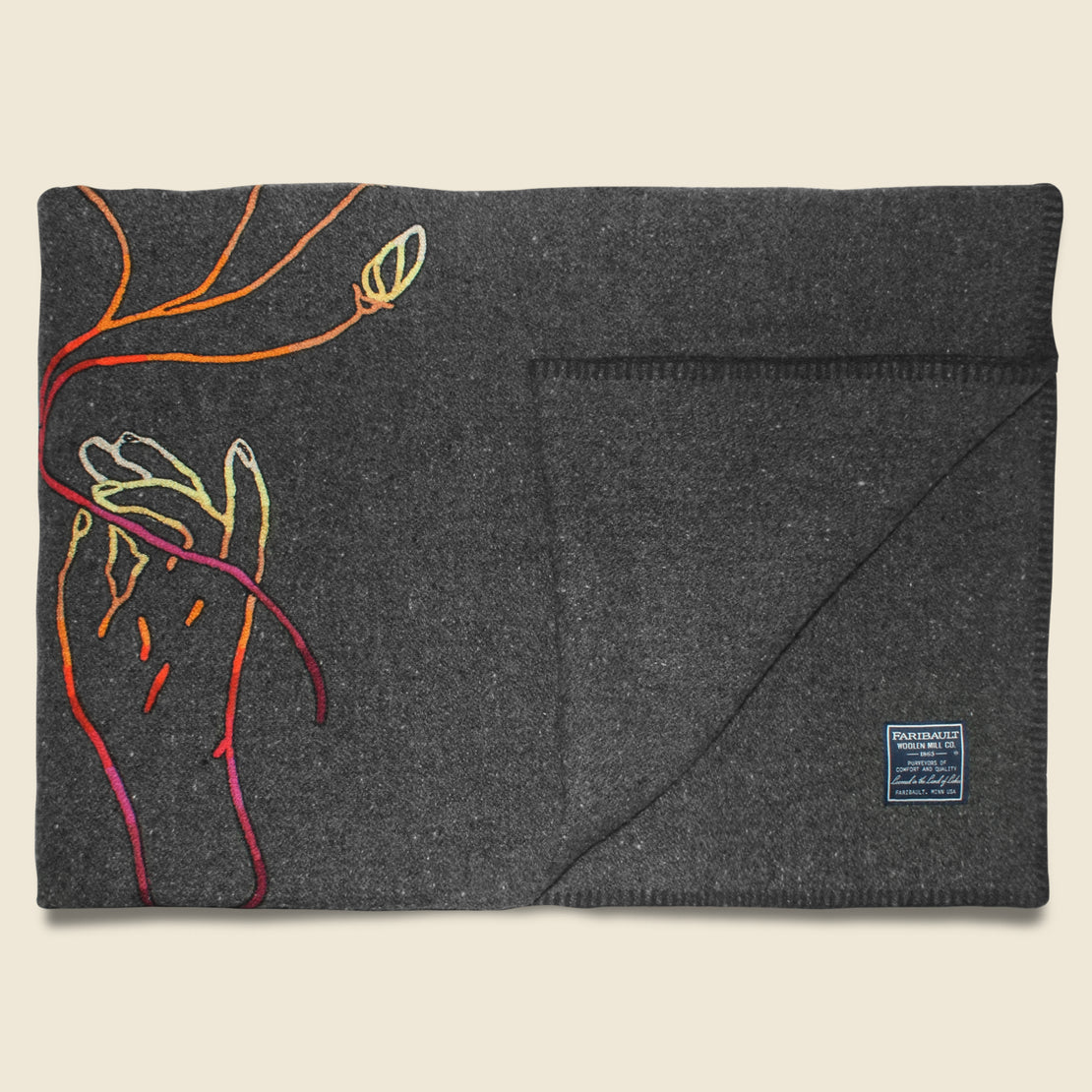 Wool Utility Blanket - Flower Offering