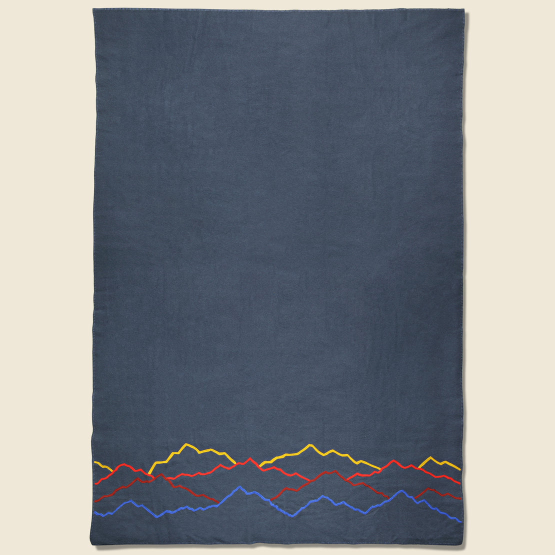 Fort Lonesome Large Wool Blanket - Mountain Landscape