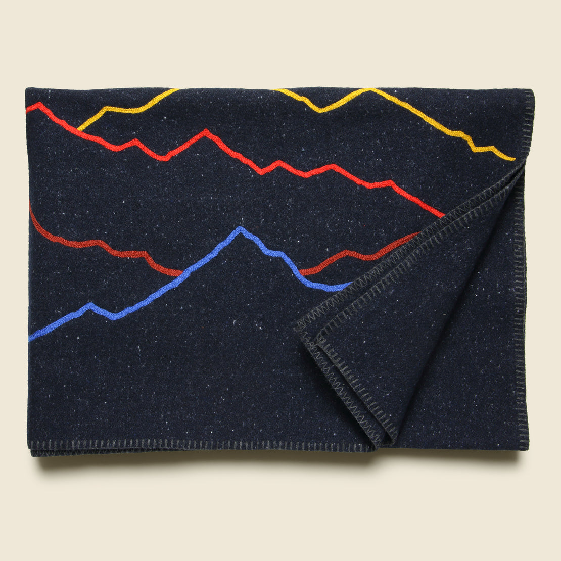 Mountain Landscape Small Utility Blanket - Navy
