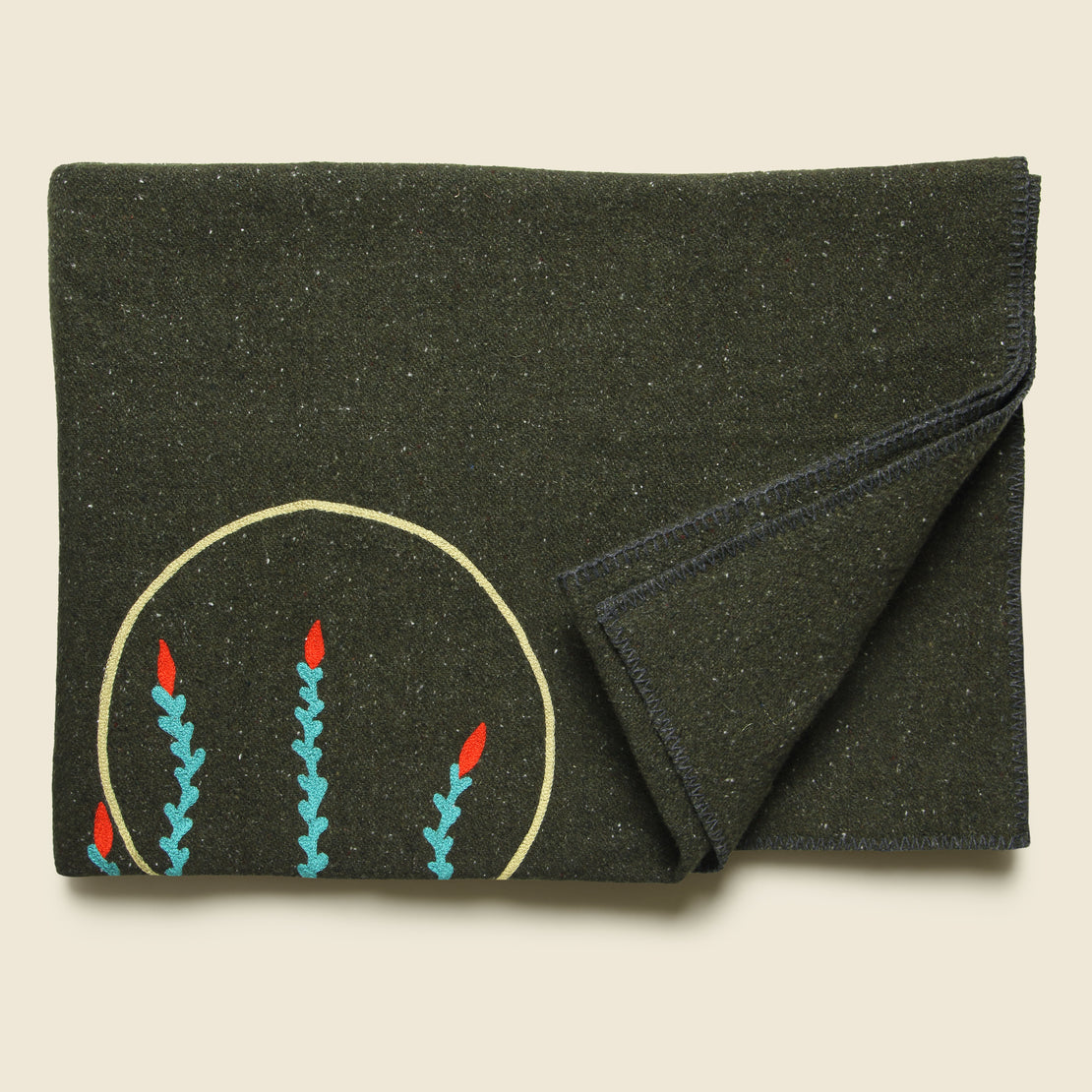 Ocotillo Small Utility Blanket - Olive