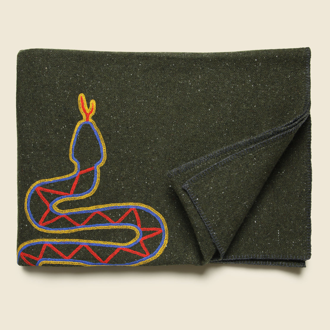 Snake Small Utility Blanket - Olive