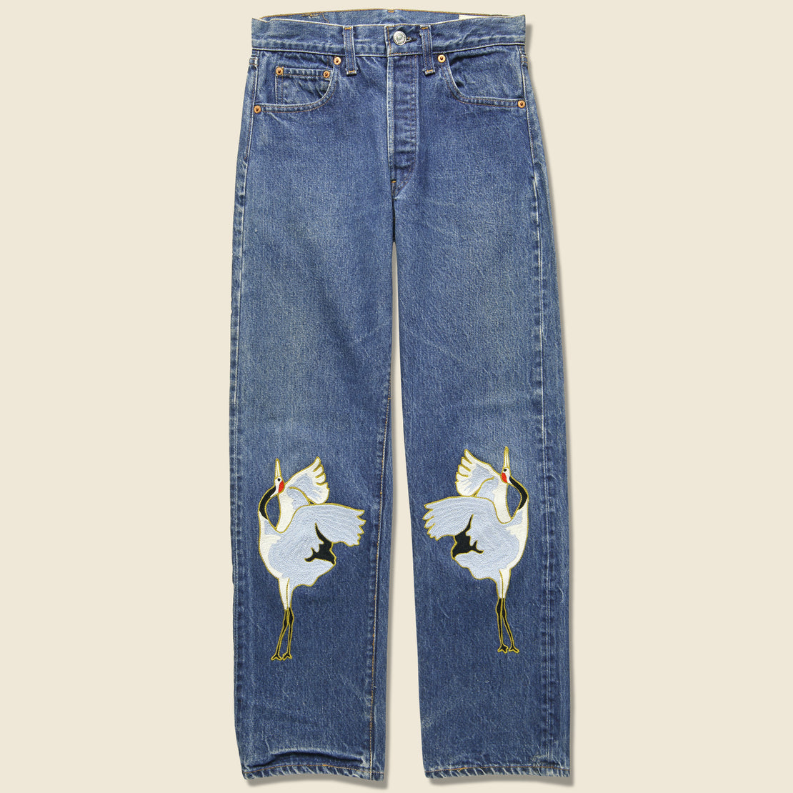 Fort Lonesome Cranes Levi's Selvedge 501 - Blue