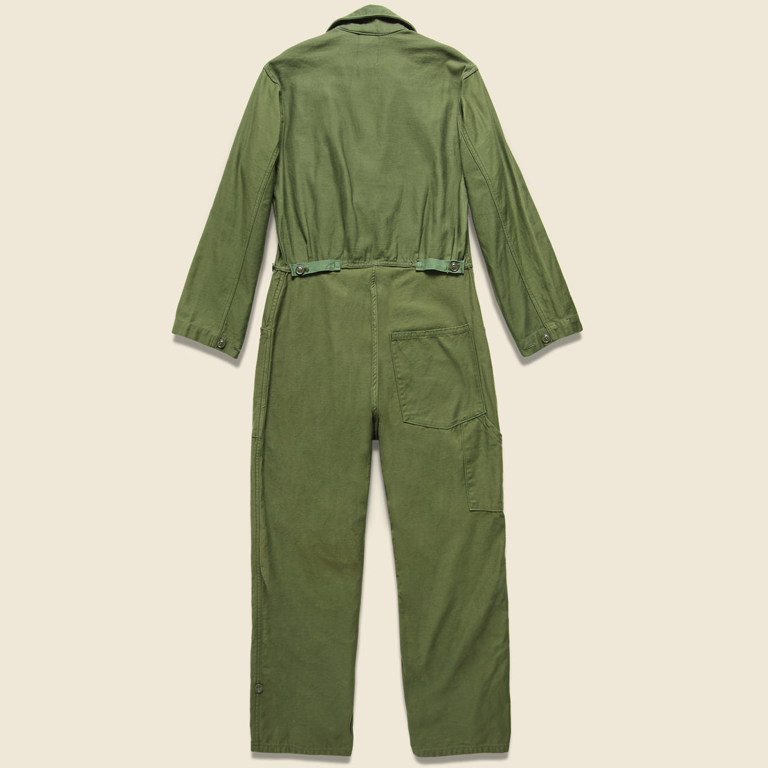 Floral Flourish Military Jumpsuit - Army Green
