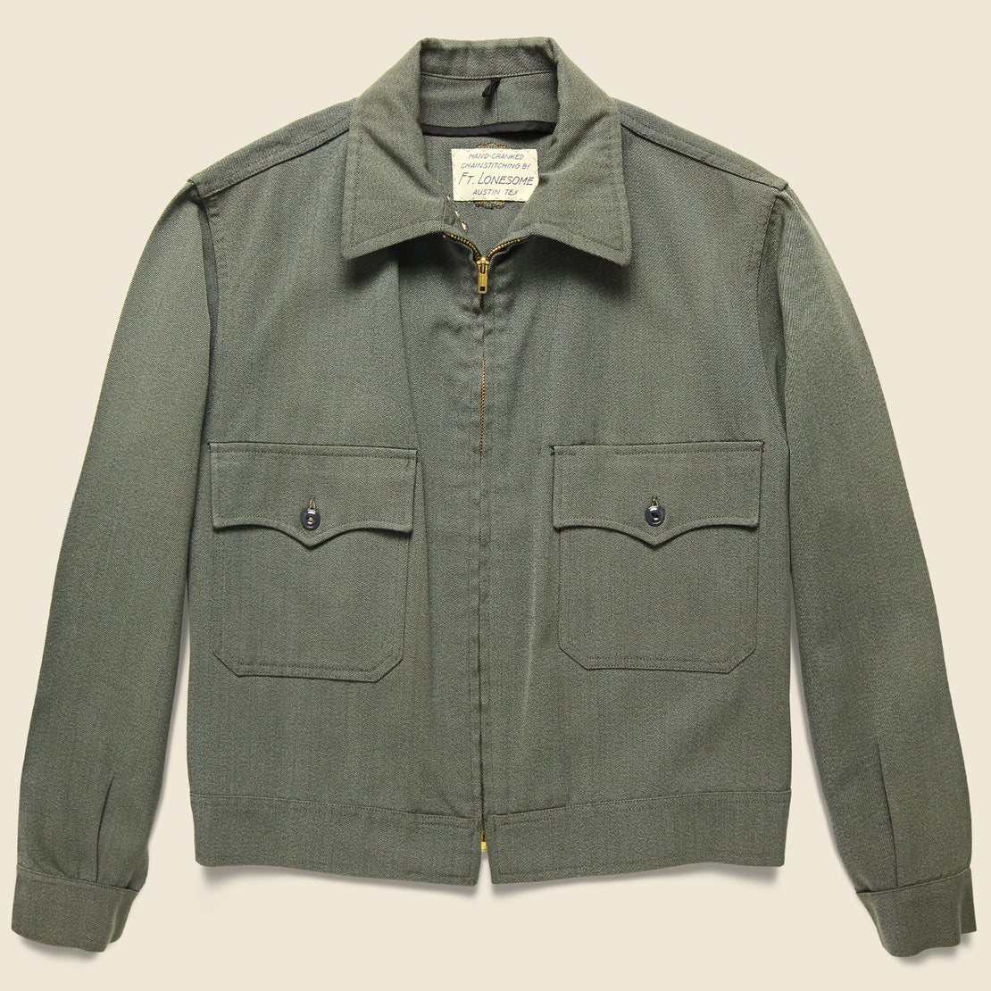 Squash Blossom Military Cropped Jacket - Sage Green
