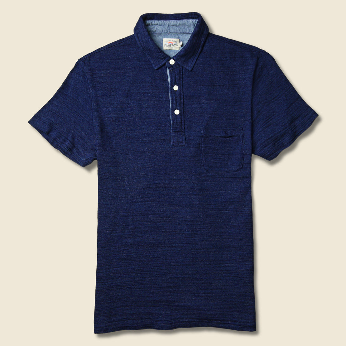 Faherty Jersey Beach Polo - Dark Wash