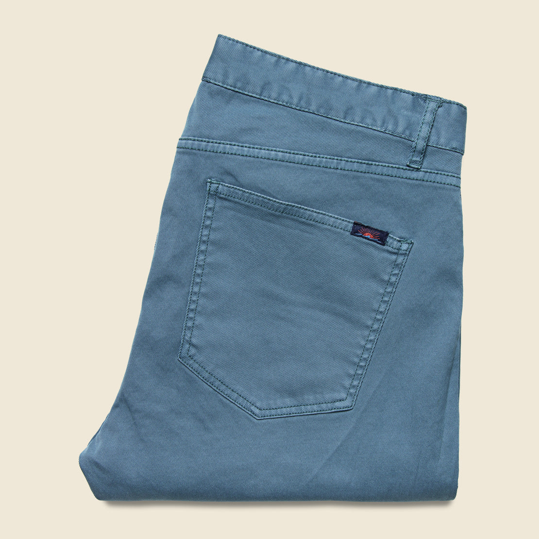 Faherty Cavalry Twill Jean - Washed Blue
