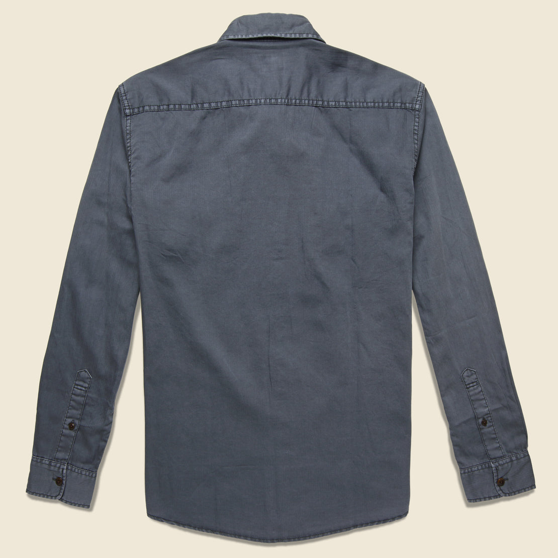 Washed Chino Shirt - Midnight - Faherty - STAG Provisions - Tops - L/S Woven - Solid