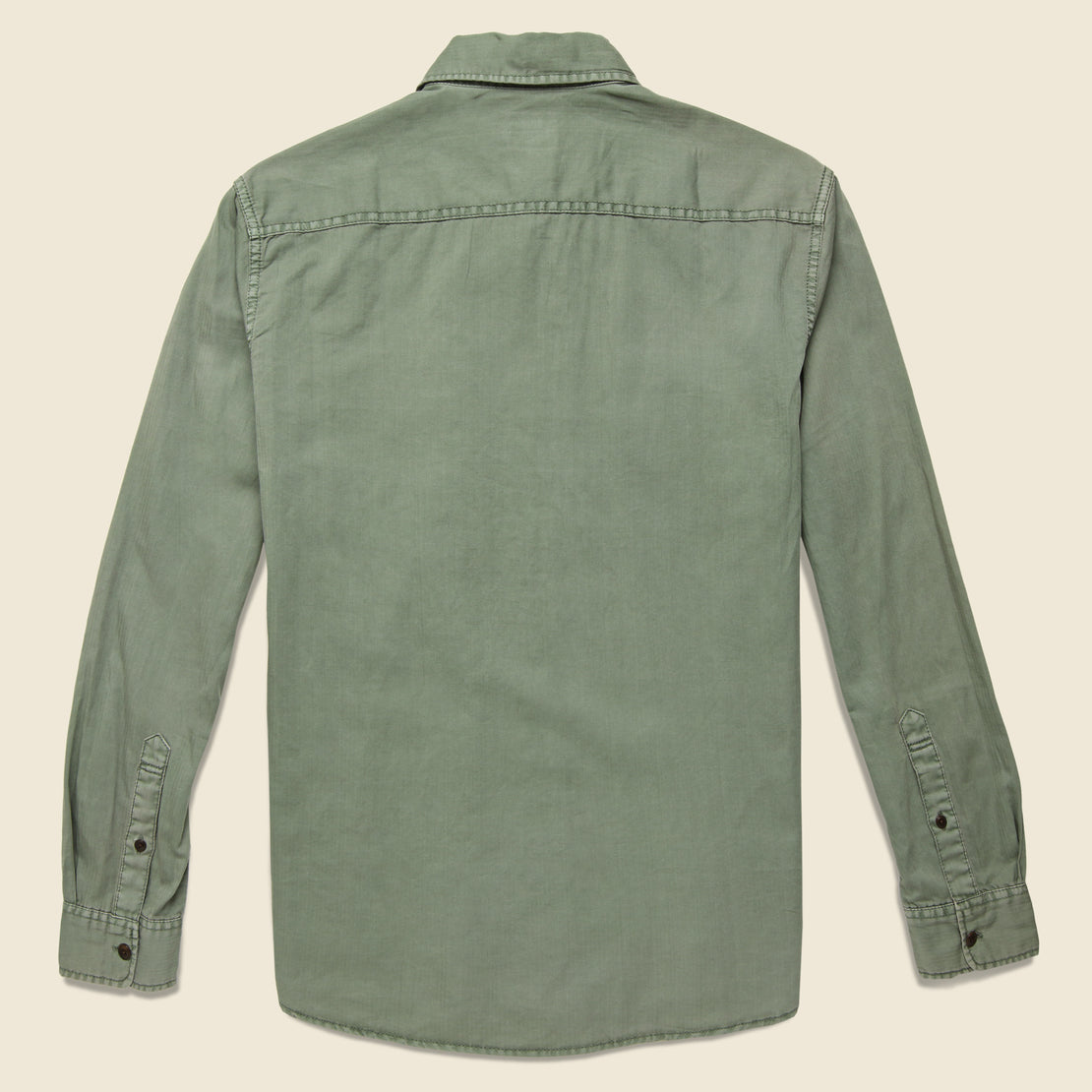 Washed Chino Shirt - Olive - Faherty - STAG Provisions - Tops - L/S Woven - Solid