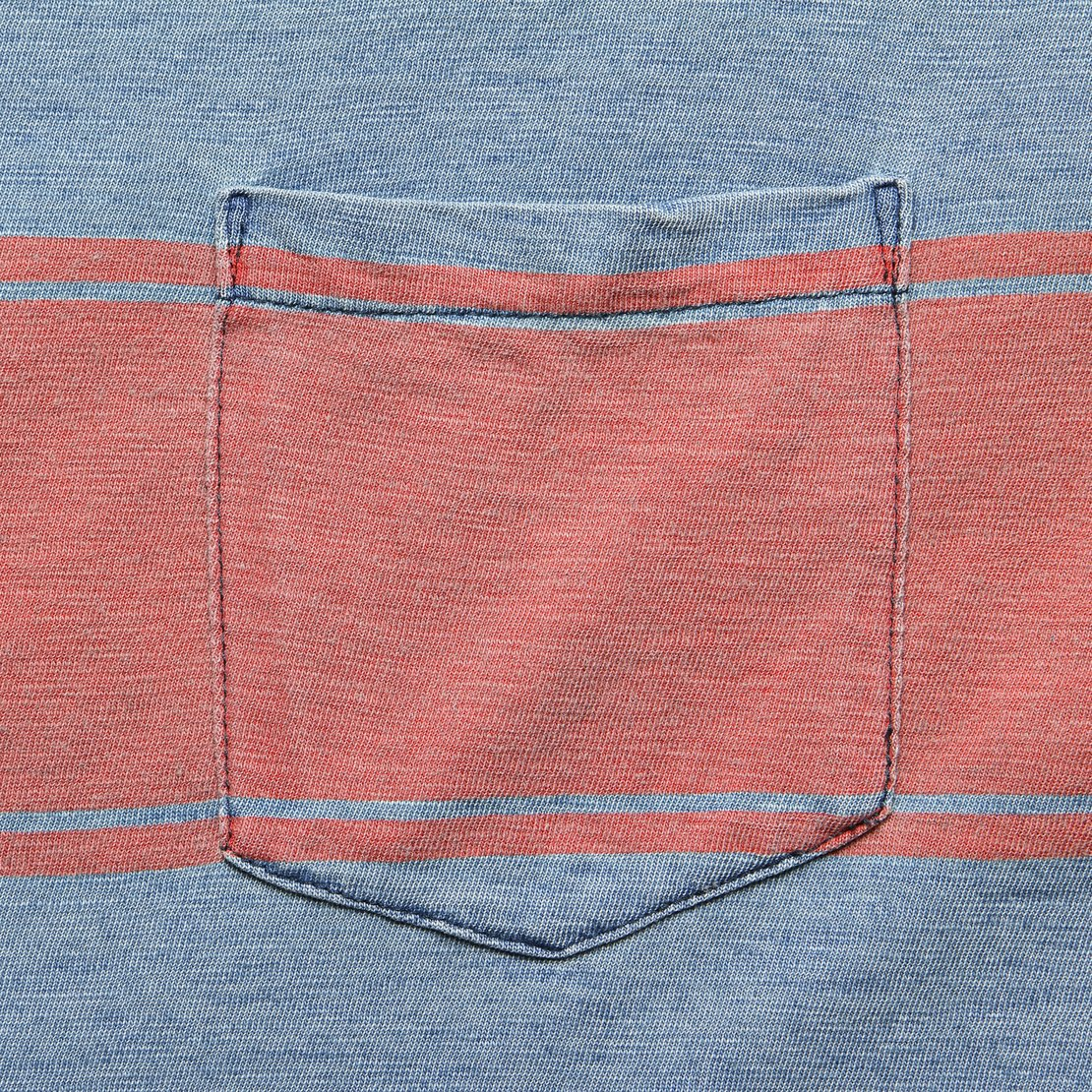 Surf Stripe Pocket Tee - Vintage Blue