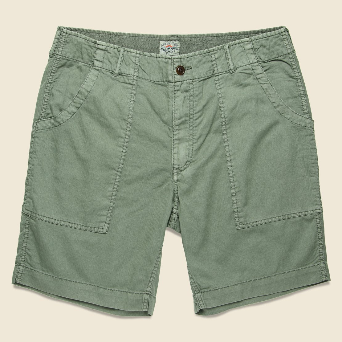 Faherty Camp Short - Olive