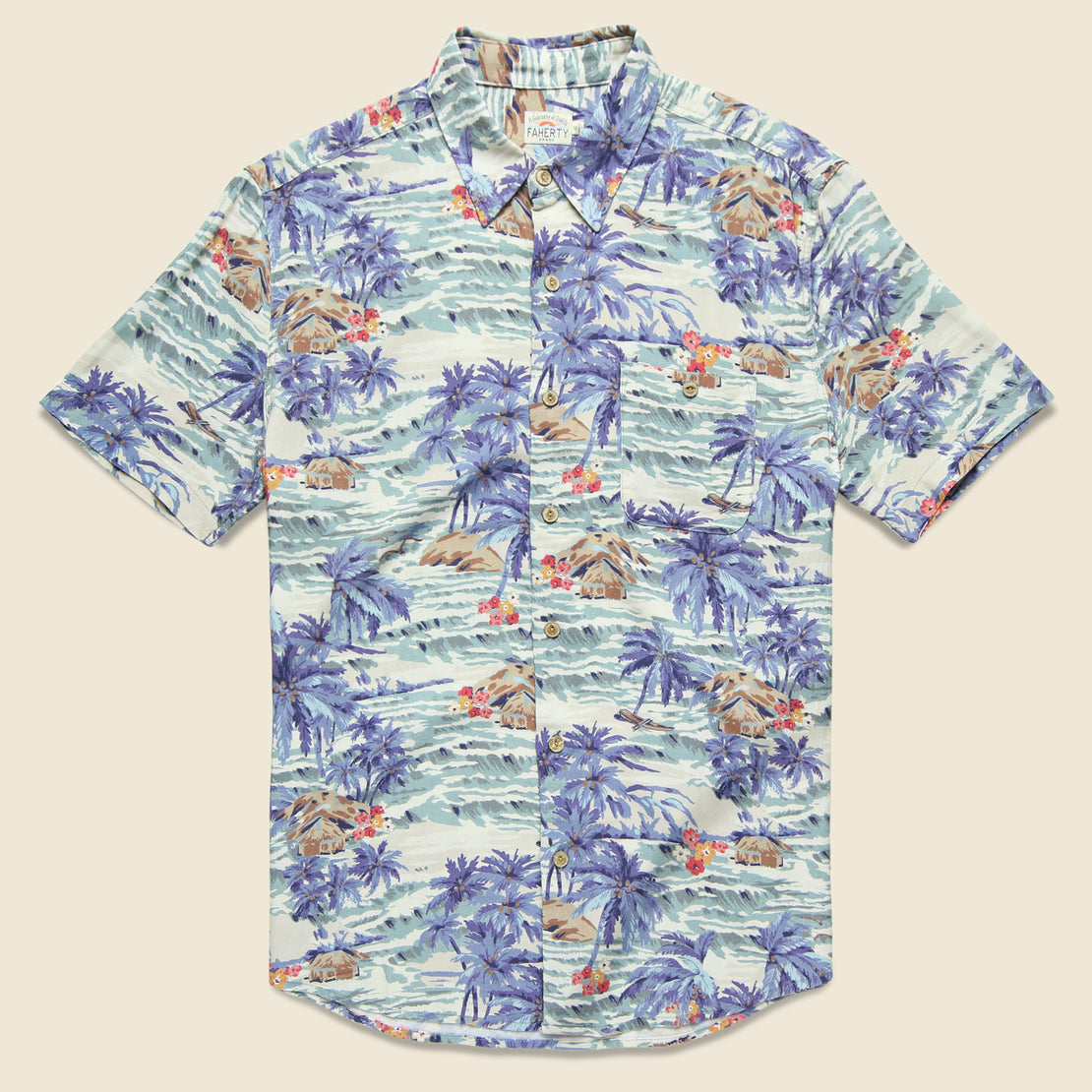 Faherty Tahitian Dreams Hawaiian Shirt - Multi