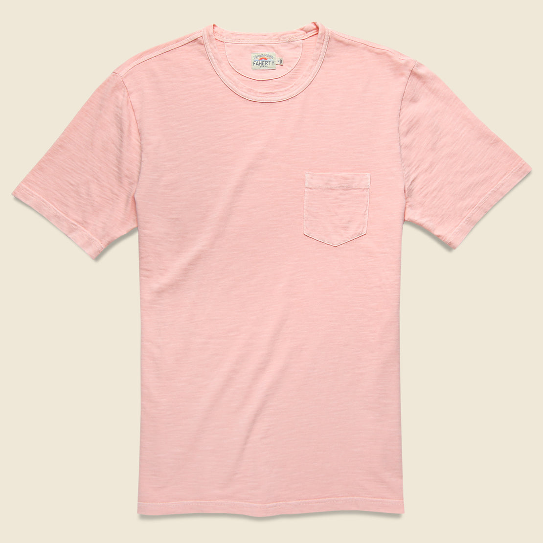 Faherty Garment Dye Pocket Tee - Summer Pink