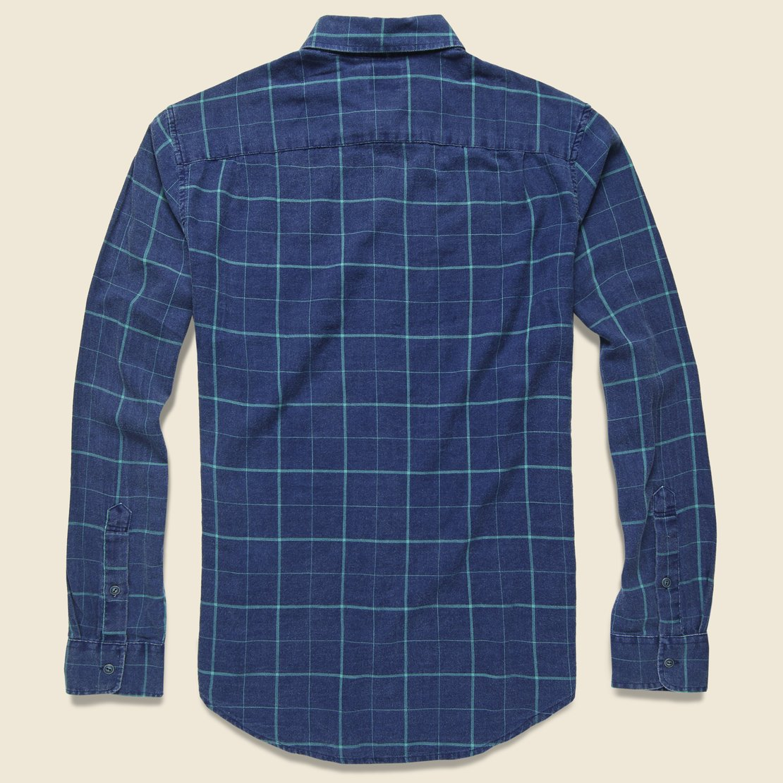 Windowpane Ventura Shirt - Indigo/Blue