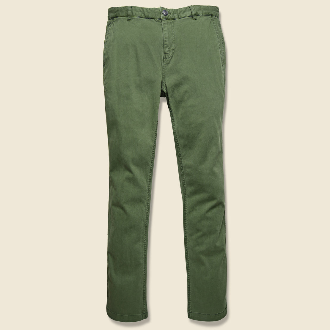 Faherty Stretch Canvas Trouser - Hunter Green