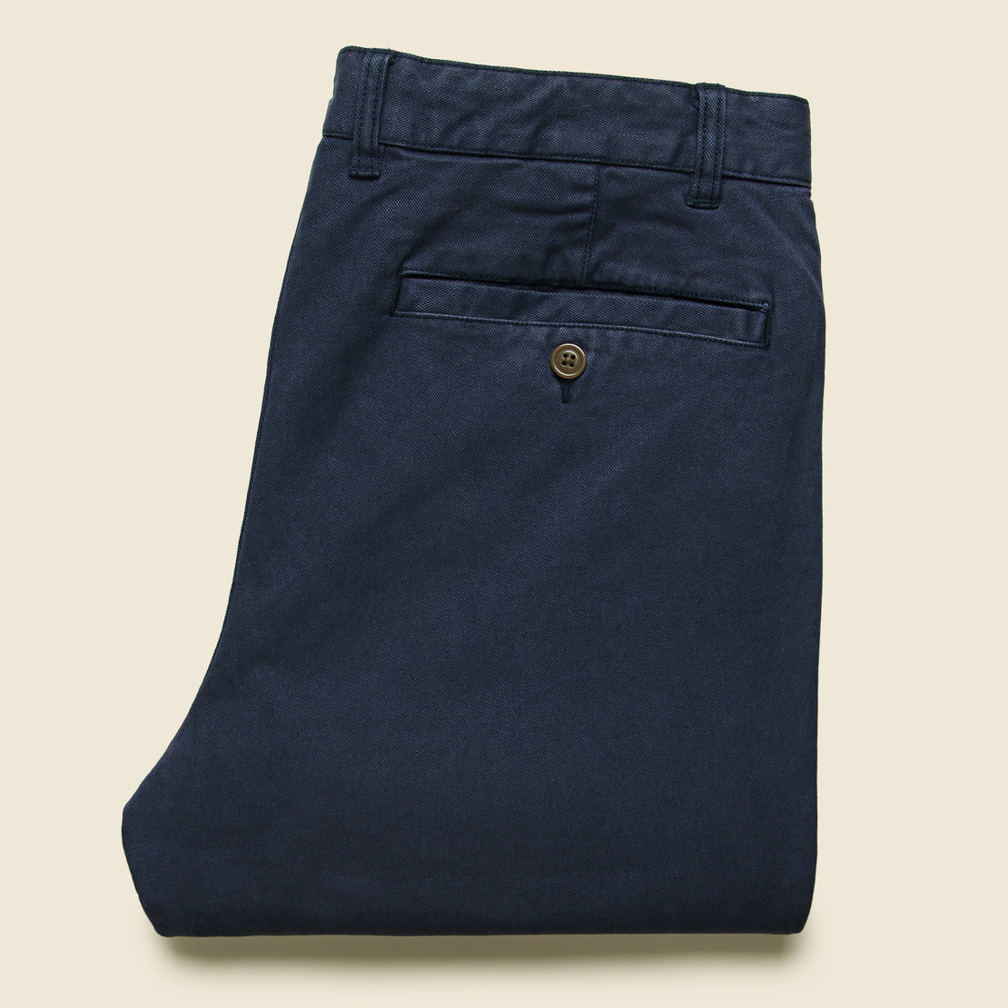 Stretch Canvas Trouser - Navy