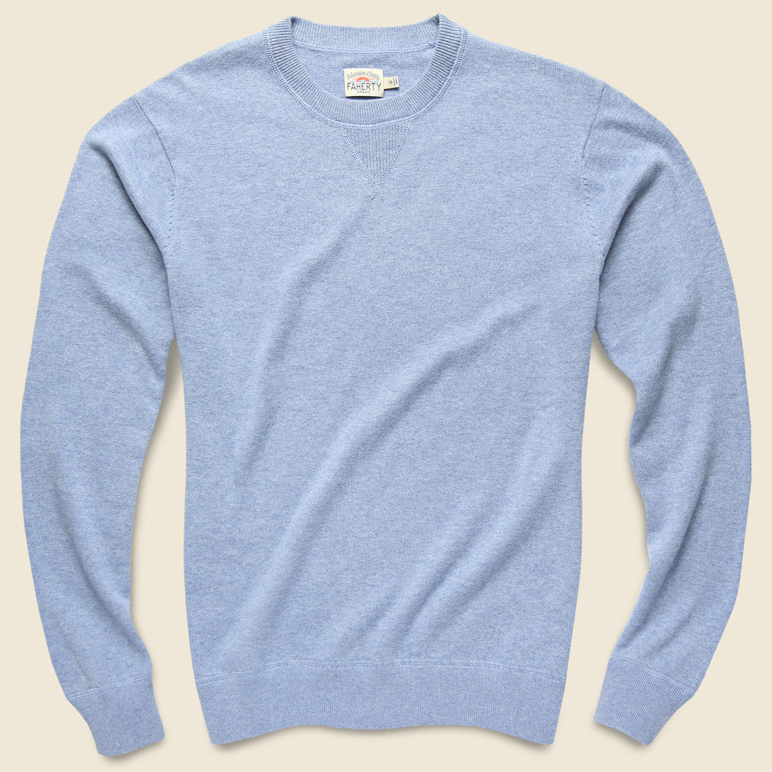 Faherty Sconset Crew Sweater - Blue Sky Heather