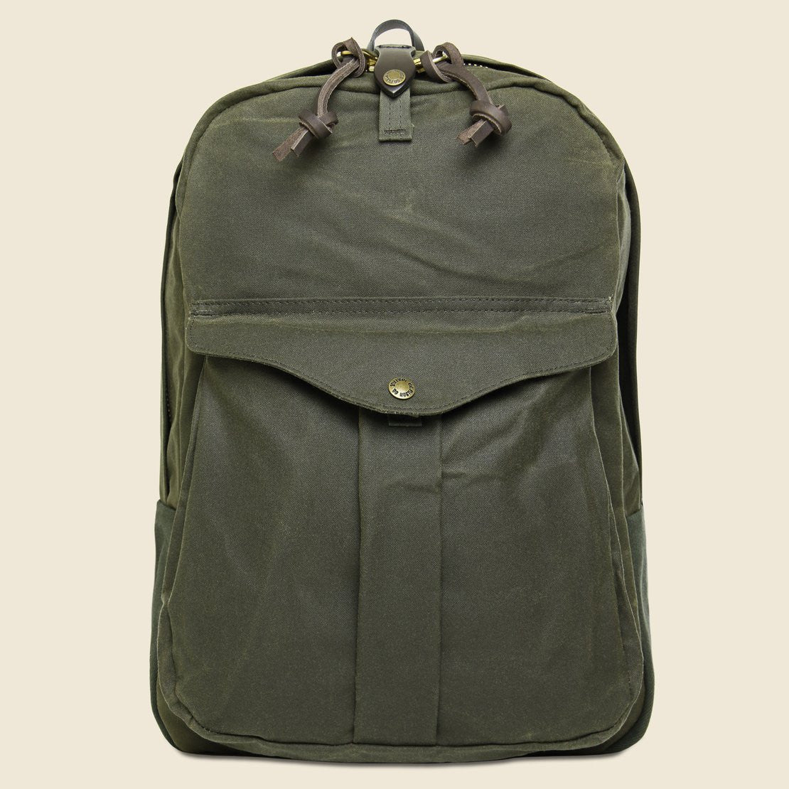 Filson Tin Cloth Journeyman Backpack - Otter Green