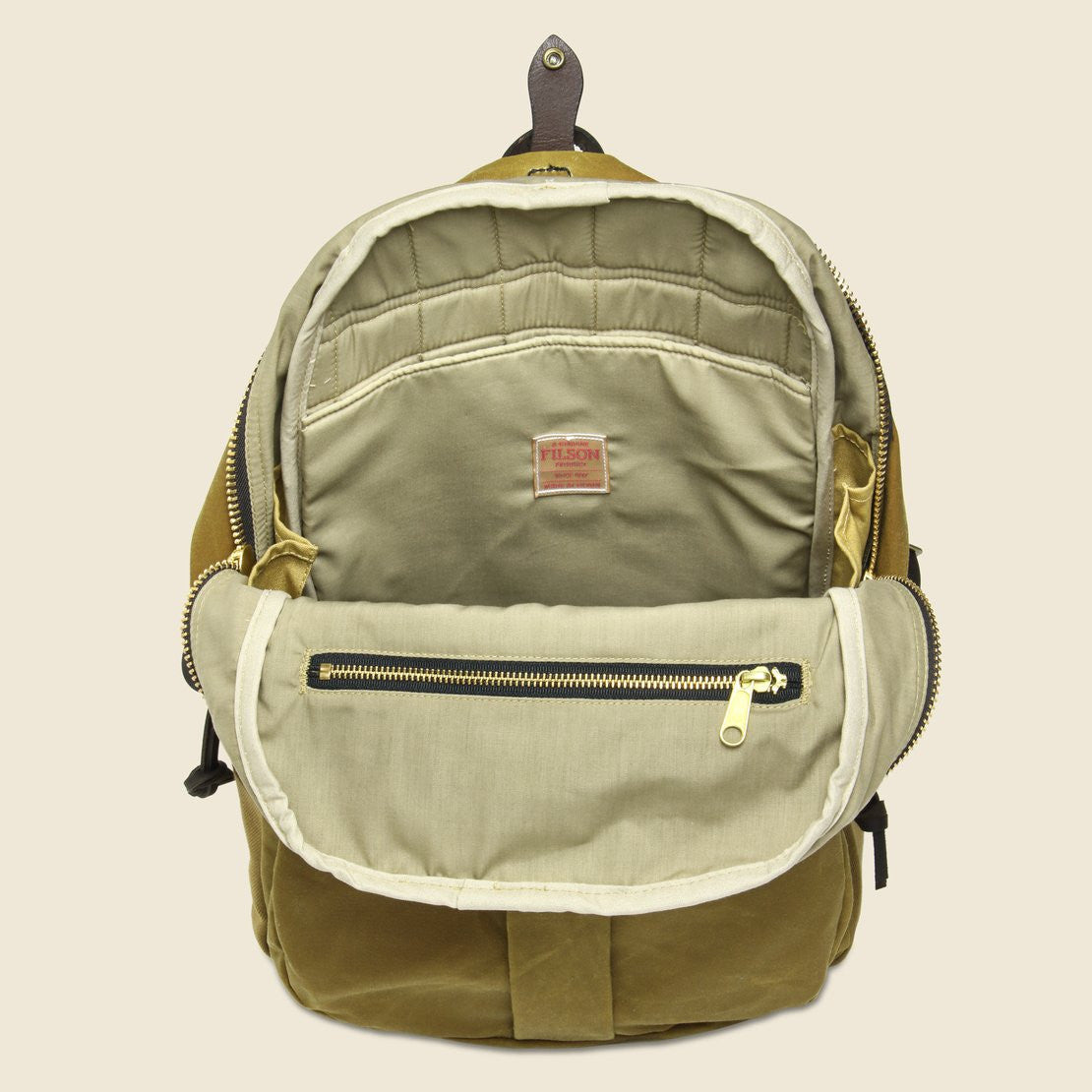 Tin Cloth Journeyman Backpack - Tan - Filson - STAG Provisions - Accessories - Bags / Luggage