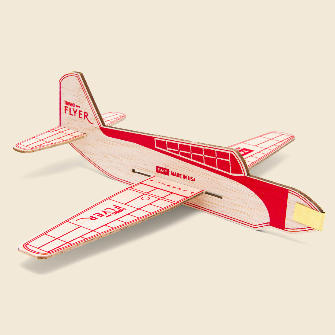 Home Turbo Flyer Balsa Airplane Kit - Red