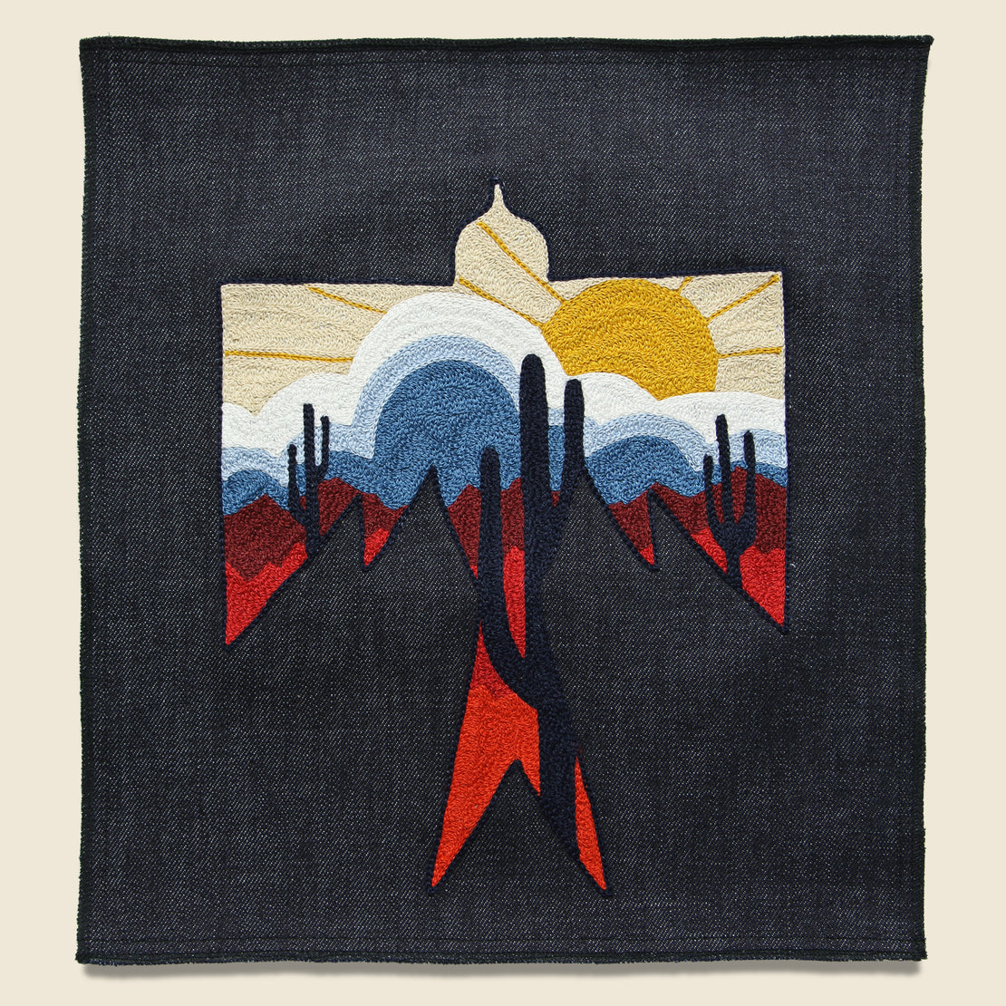 Fort Lonesome Large Direct Stitch Embroidery - Saguaro Geo Thunderbird