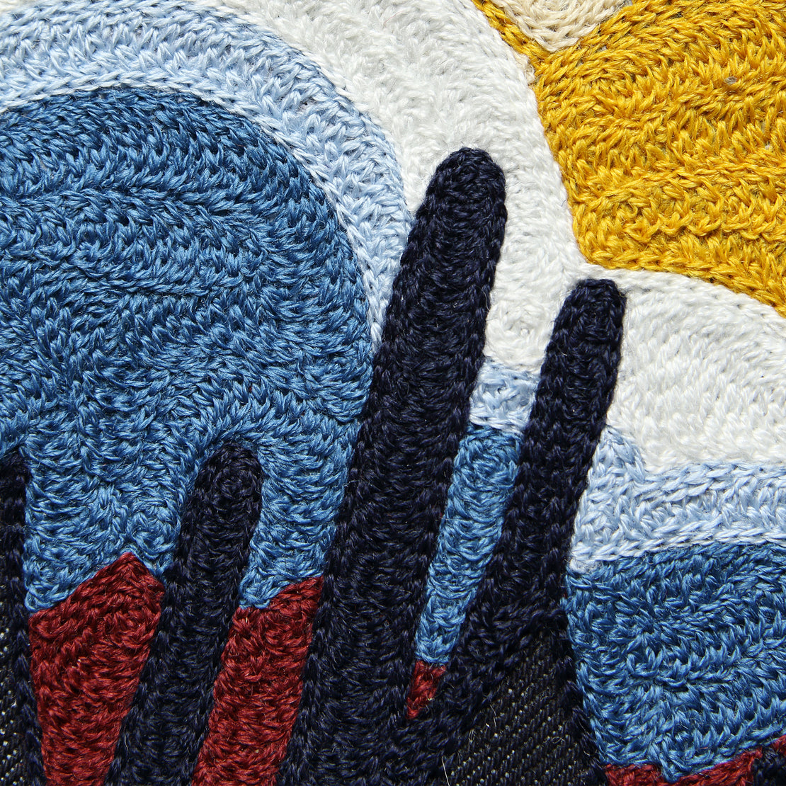 Large Direct Stitch Embroidery - Saguaro Geo Thunderbird