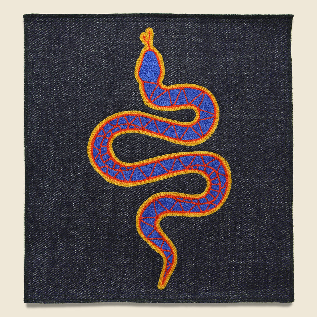 Fort Lonesome Large Direct Stitch Embroidery - Snake