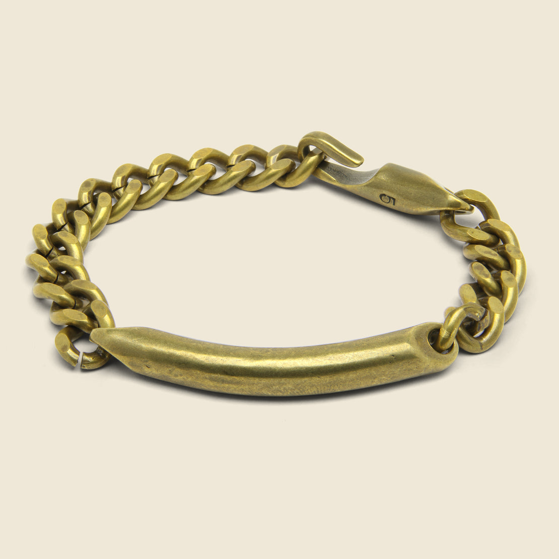 Giles & Brother ID Chain Bracelet - Brass