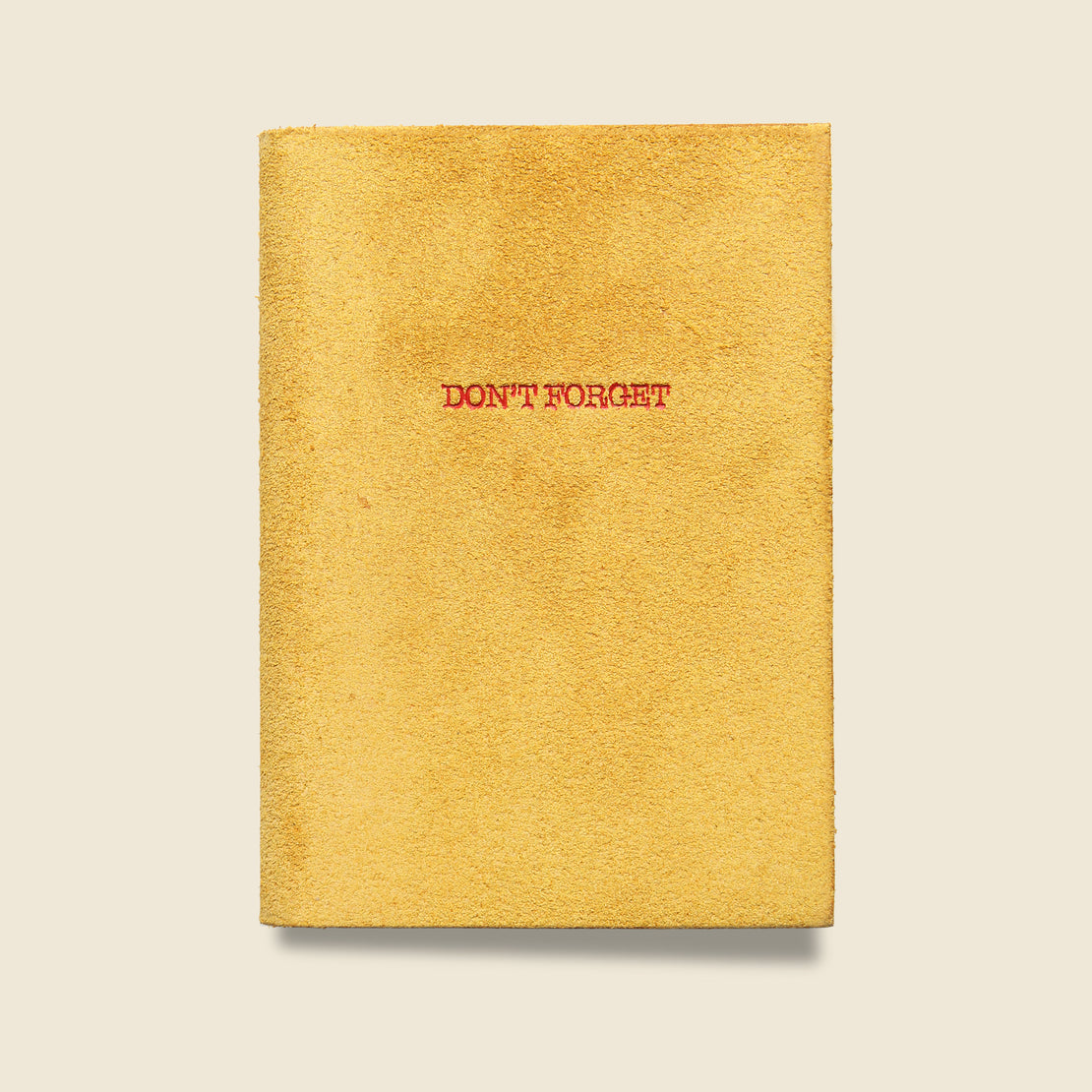 "Paper Goods ""DON'T FORGET"" Leather Journal - Yellow"