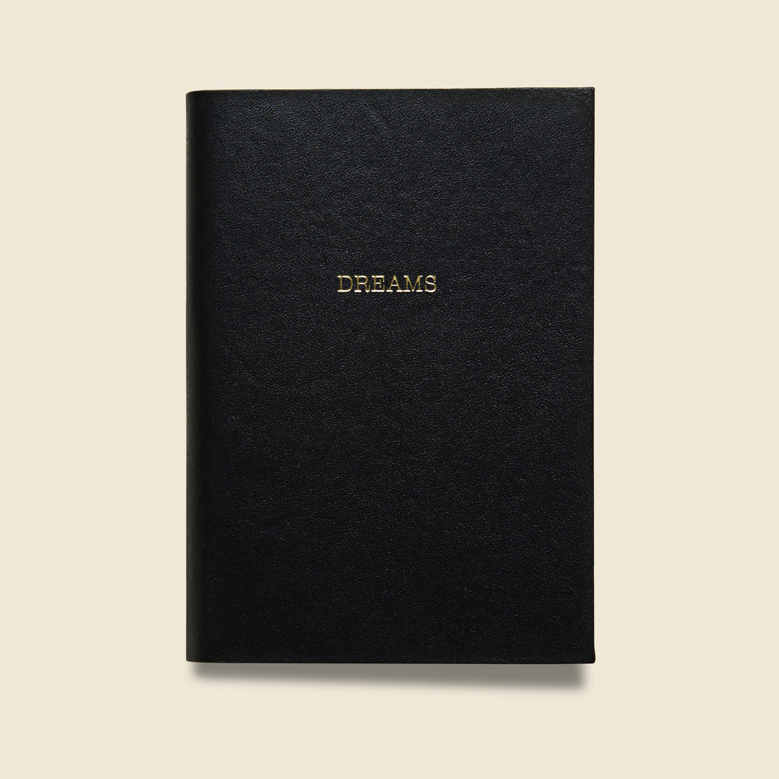 "Paper Goods ""DREAMS"" Leather Journal - Black"
