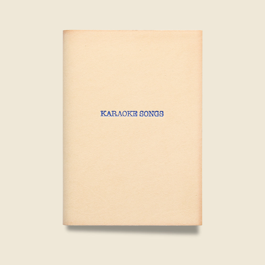 "Paper Goods ""KARAOKE SONGS"" Leather Journal - Natural"