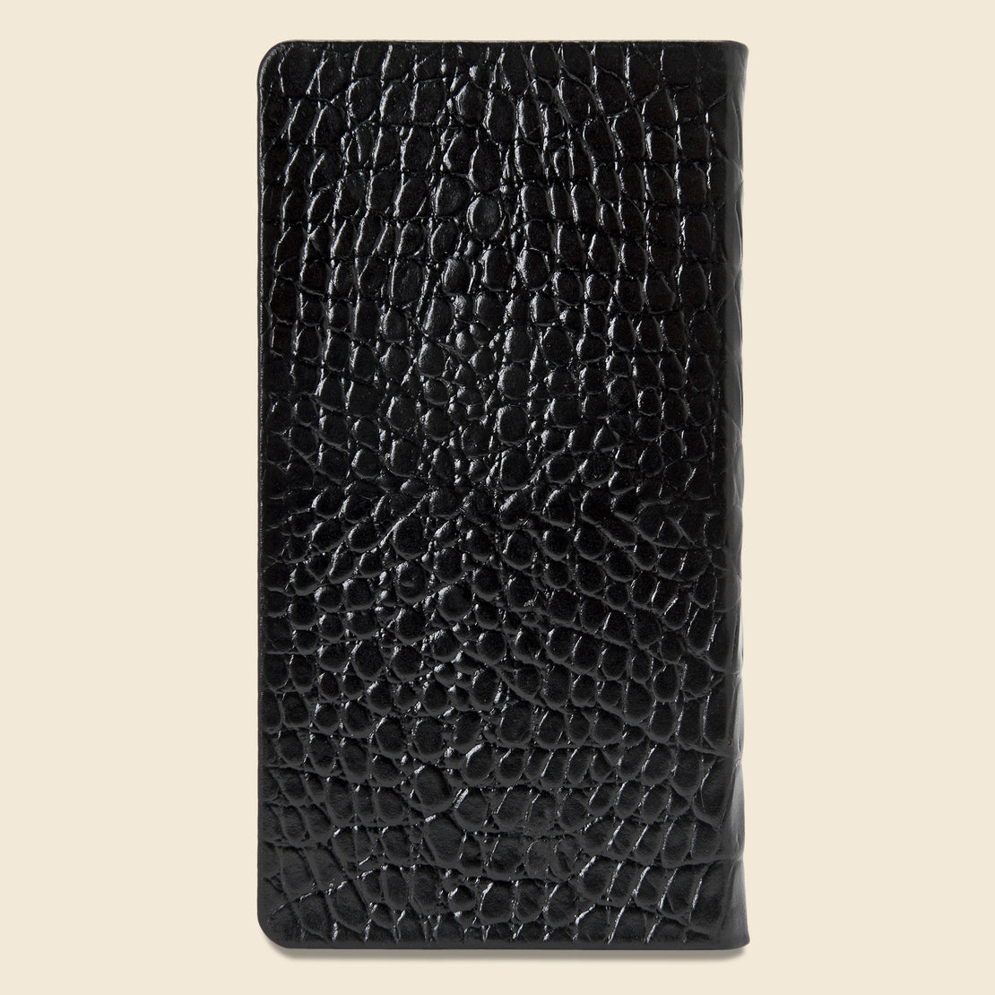 2021 Embossed Leather Pocket Datebook - Black Crocodile