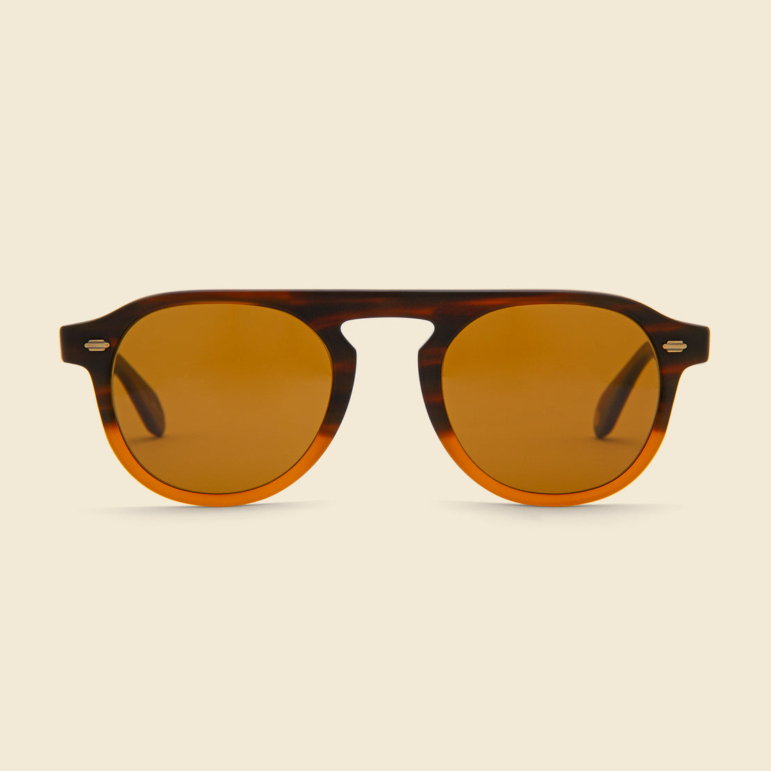 Garrett Leight Harding 47mm - Matte Dark Caramel Gradient/Pure Brown