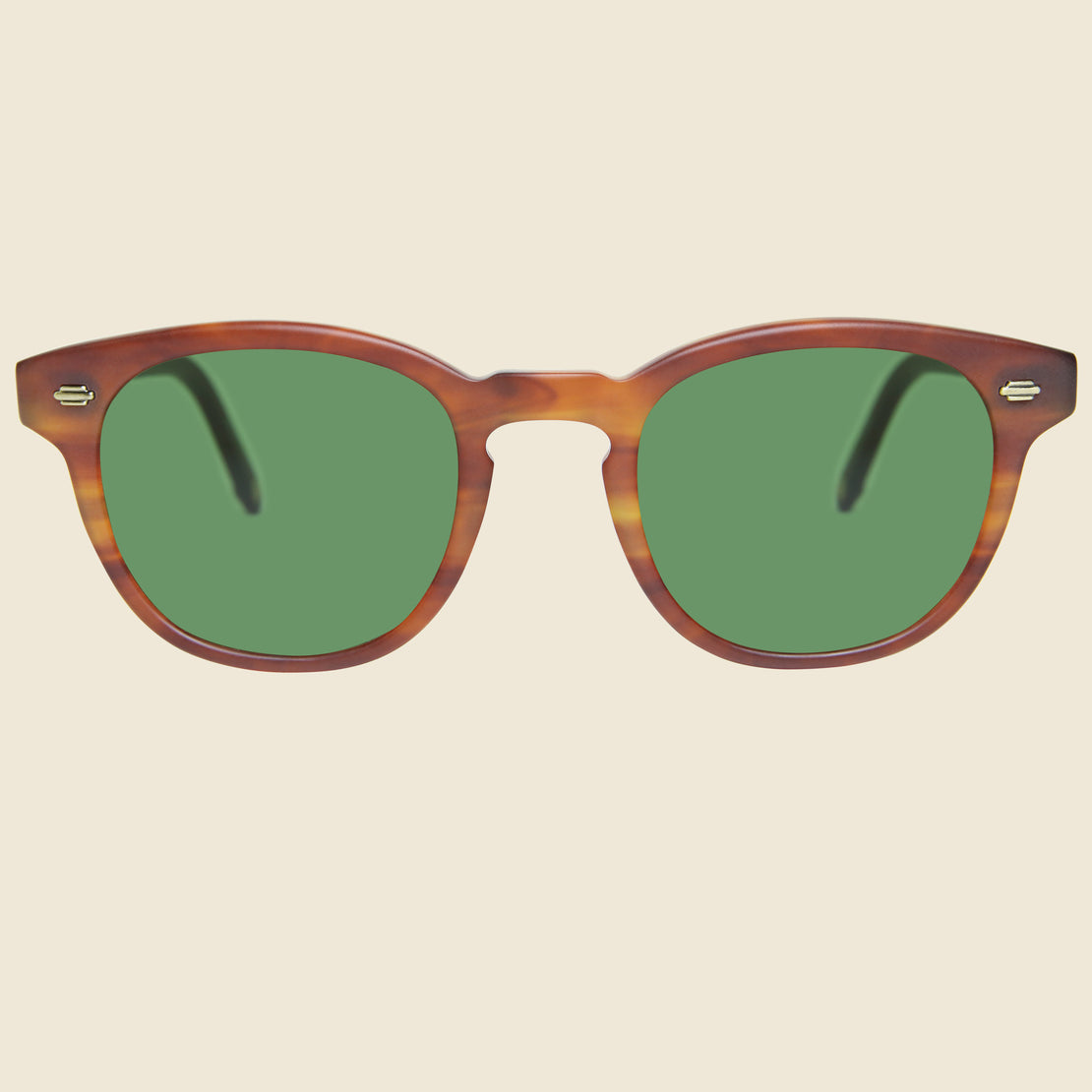 Garrett Leight Warren 46mm - Amber Tortoise/Green