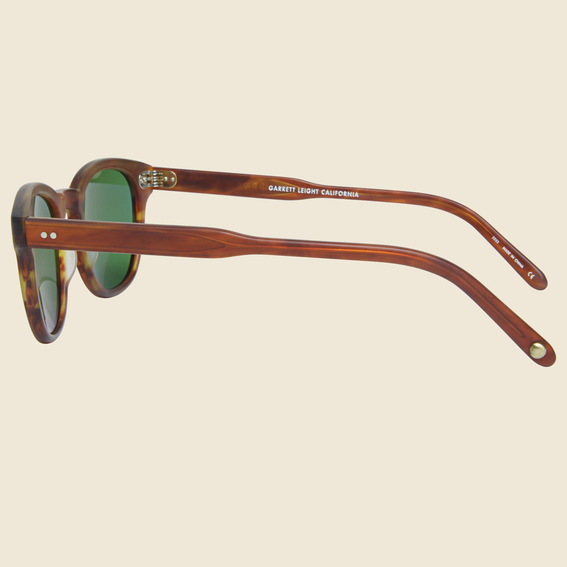 Warren - Amber Tortoise/Green - Garrett Leight - STAG Provisions - Accessories - Eyewear