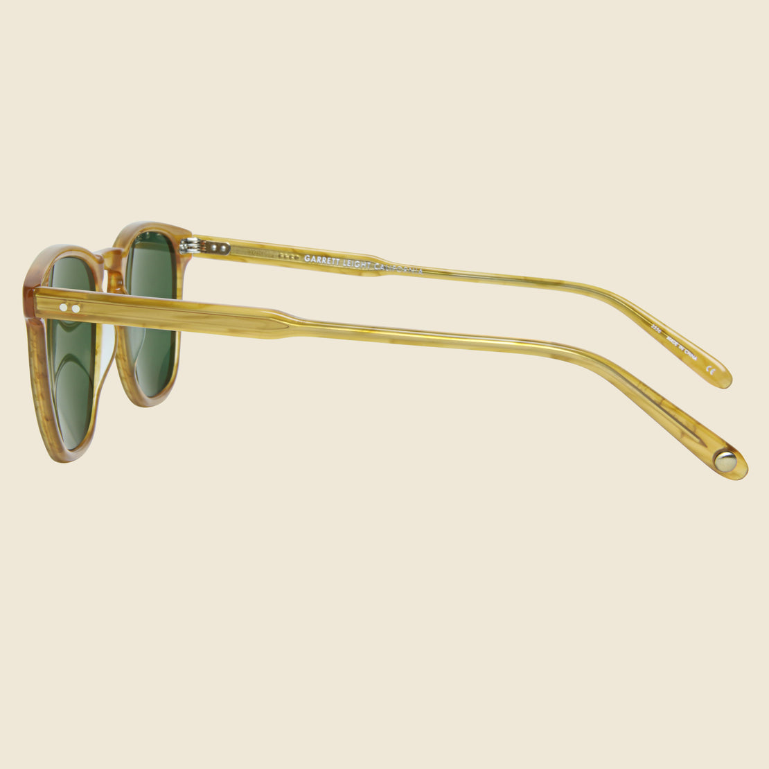 Brooks - Butterscotch/Green - Garrett Leight - STAG Provisions - Accessories - Eyewear